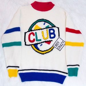 ⭐Rare Vintage 1980's Club Boy Crazy Sweater⭐